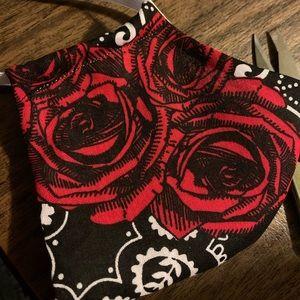 Bandana rose non medical face mask